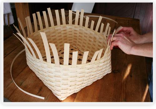 How To Make A Woven Grass Basket : Sheldon farm baskets homemade